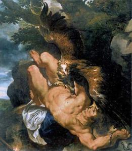 """P. P. Rubens, """"El tormento de Prometeo"""", 1612."""